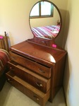 Vintage - 3 Drawer Dresser with mirror   estimated at 40+ years old