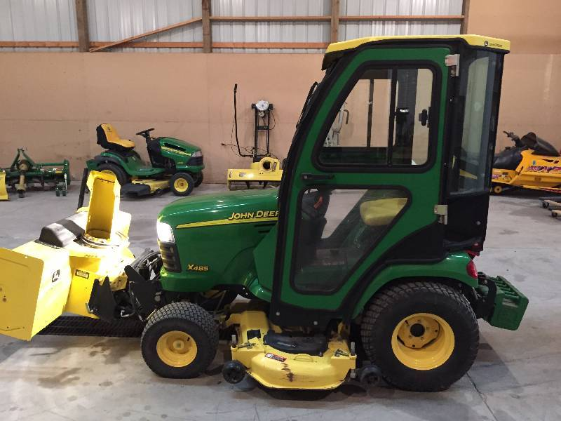 2006 john deere x485 with cab snowblower and weight kit november