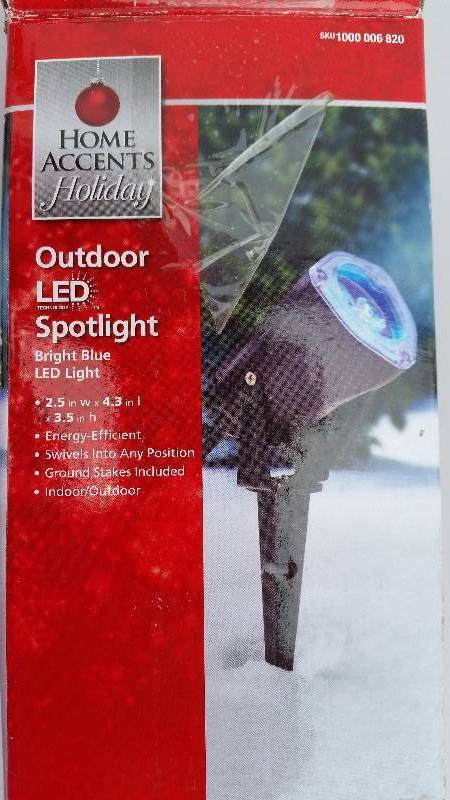 Outdoor LED Spotlight Blue Christmas Decorations Of Sioux City K BID