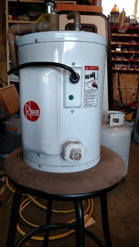 Fish house size hot water heater victory sales for Fish house heaters
