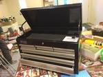 Homak Tool Box w/keys   matches lot 95  very good quality and in very condition