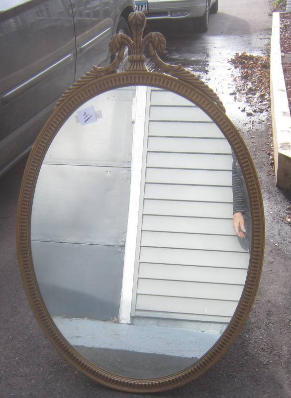 Antique oval mirror 40 x 26 very unique antiques for Miroir 40 x 80