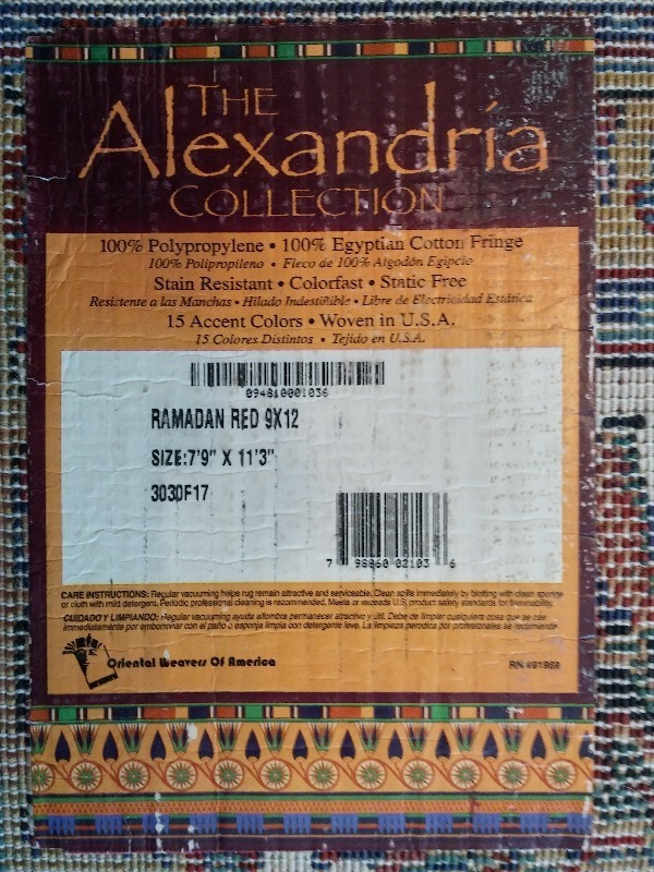 The Alexandria Collection Ramadan Red 9 X 12 Rug Great