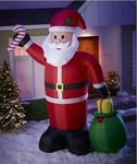alcove 12' Lighted Inflatable Santa