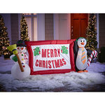 alcove 10' Inflatable Merry Christmas Banner Duo