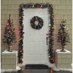 alcove Holiday Door Decor Kit - Multicolored Lights