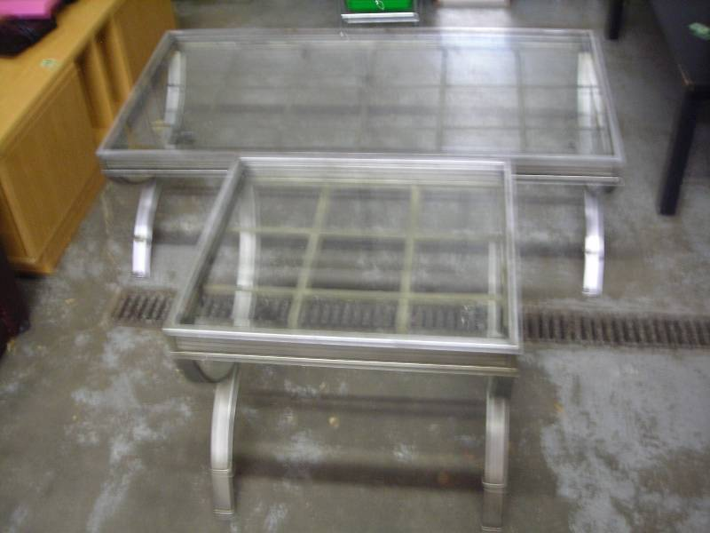Glass top coffee table 52 x 26 x 18 end table lawn for 52 glass table top