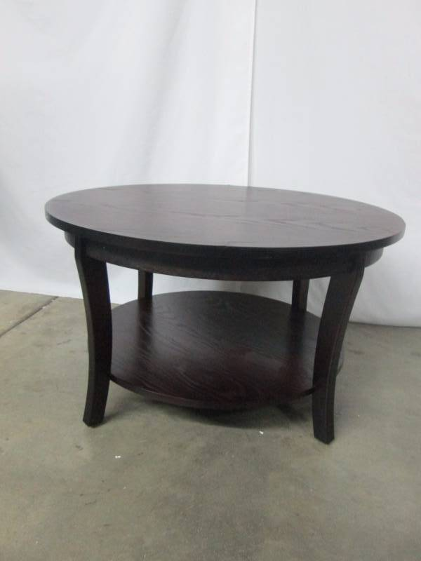 Alcove Round Cherry Coffee Table November Store Returns Fishing Poles And Consignments 6 K Bid