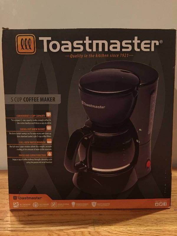 Toastmaster Coffee Maker K Cup : Toastmaster 5 Cup Coffee Maker GREAT New & Used Household Items! Perfect for Gift Giving!! K-BID