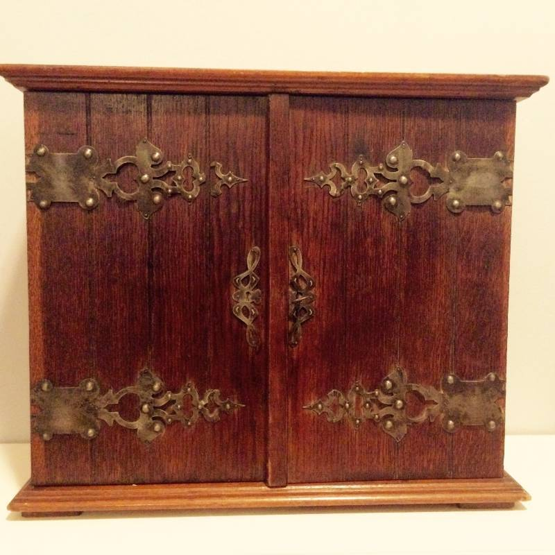 antiqued kitchen cabinets edwardian oak hanging smoker s cabinet no 6 antique 10693