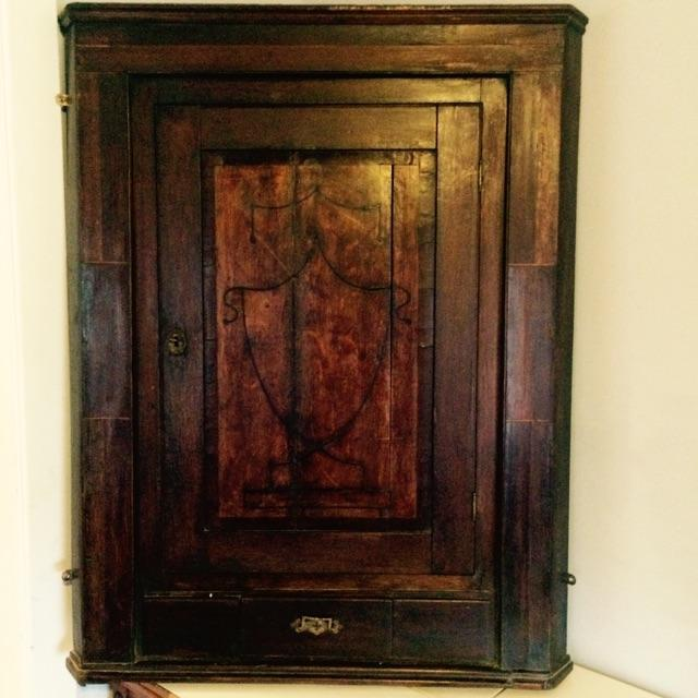antiqued kitchen cabinets georgian hanging corner cabinet no 6 antique 10693