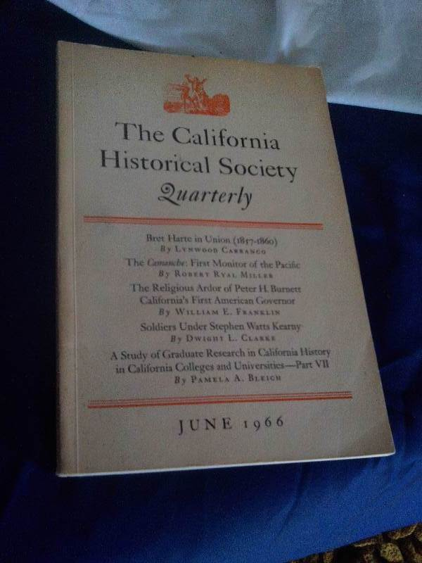 Vintage 1966 california historical society quarterly for Furniture history society