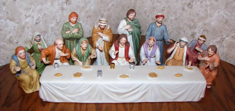 Last Supper Porcelain Figurine Set By Home Interiors Twc Bluemoon