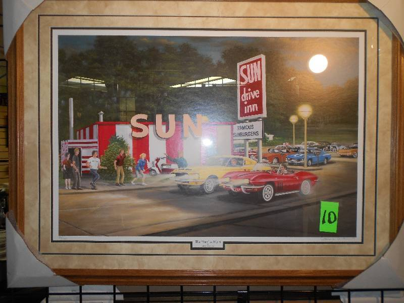 The Sun Drive Inn Framed Print Fmgs Swanson Collection Holiday Gifts K Bid