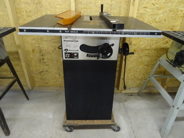 Rockwell 9 Table Saw 120 Volt K C Auctions Mpls Contractor Moving Auction Bid