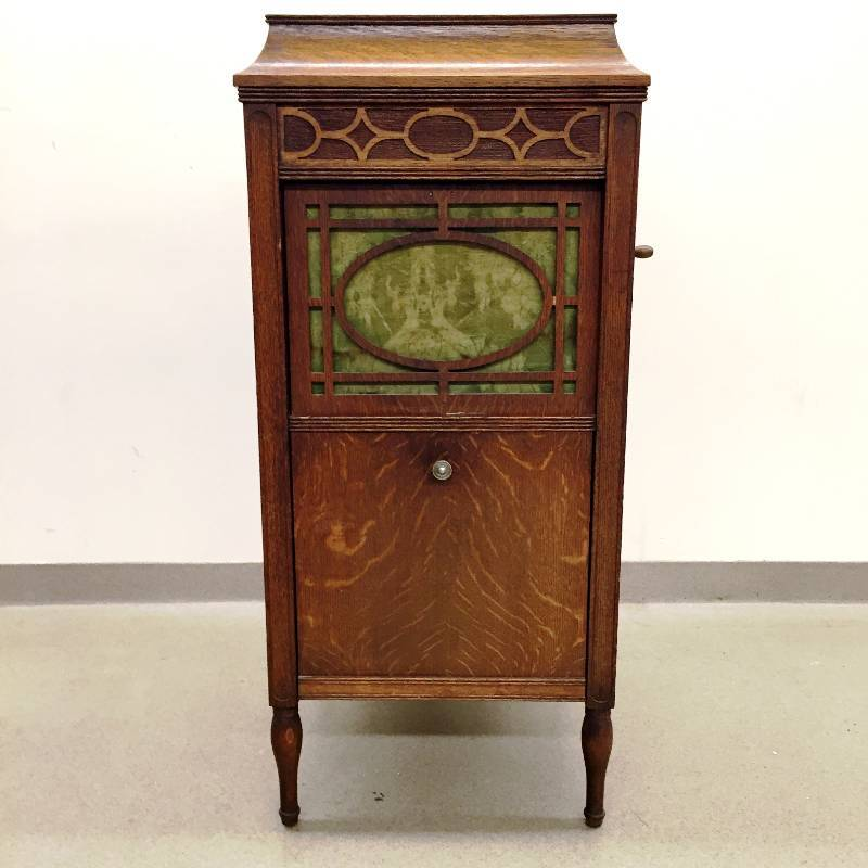 **** WORKING GORGEOUS ANTIQUE 1913 Thomas Edison Diamond Disc Wind Up  Phonograph Model C150 In Sheraton Style Cabinet With Loads Of Records  (Discs) U0026 Extra ...