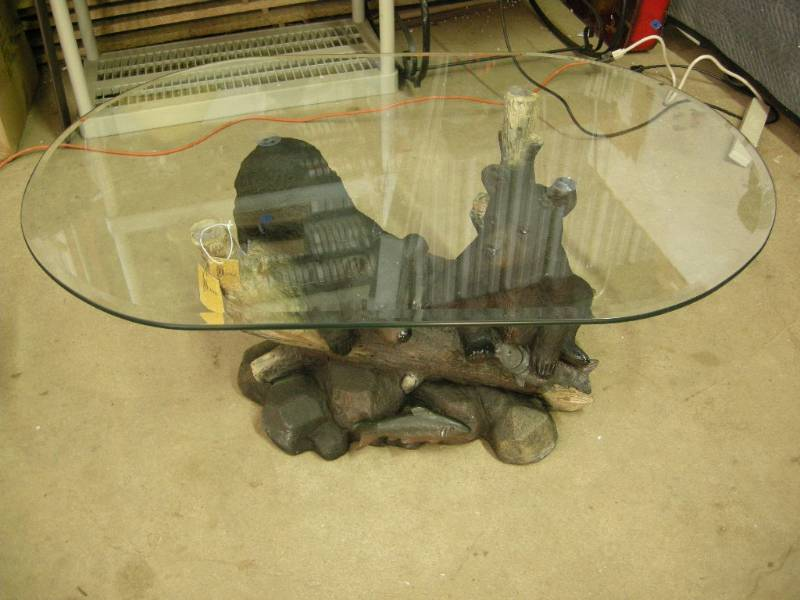 Black Bear Coffee Table | Country, Cabin, Cowboy Decor | K BID