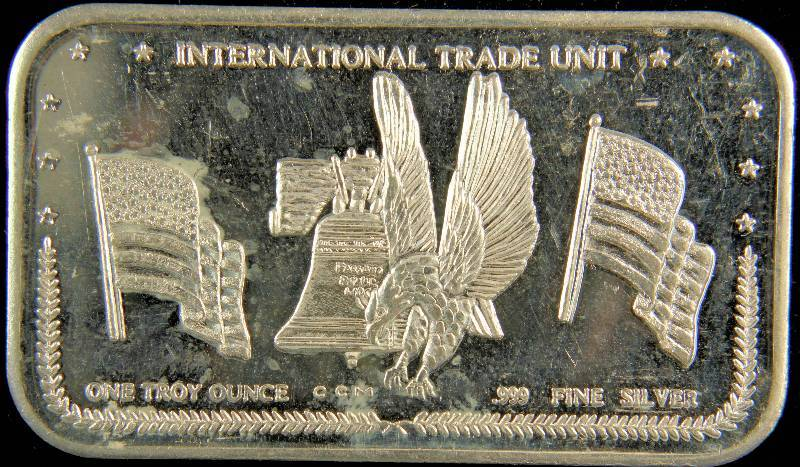 1 Troy Oz 999 Fine Silver Bar International Silver Trade