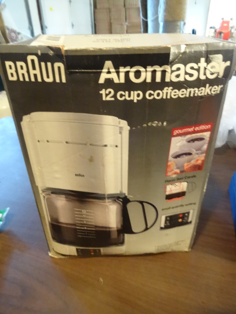 Braun Coffee Maker Directions : Braun Aromaster Coffee maker 12 cup K & C Auctions Blaine Moving Auction 2 K-BID