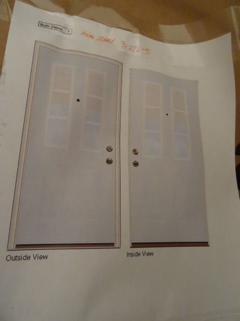 Exterior door brand new in box k c auctions blaine for Exterior door brands