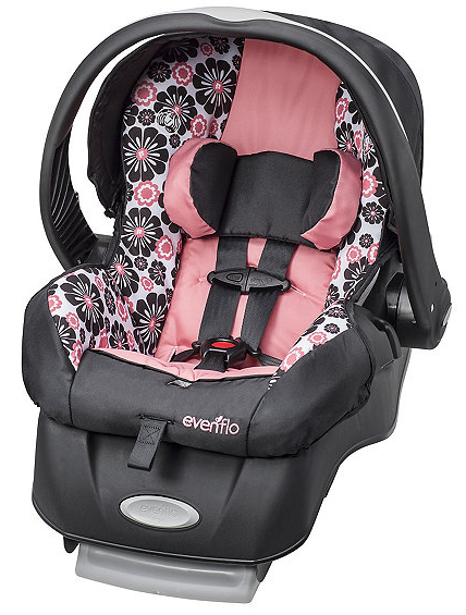 evenflo embrace lx infant car seat pink half a home 67 kids toys and accessories auction k bid. Black Bedroom Furniture Sets. Home Design Ideas