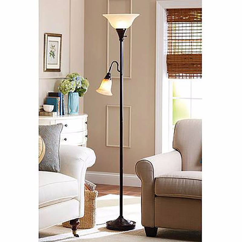 better homes and gardens floor lamp combo antique nickel With better homes and garden floor lamp combo antique nickel
