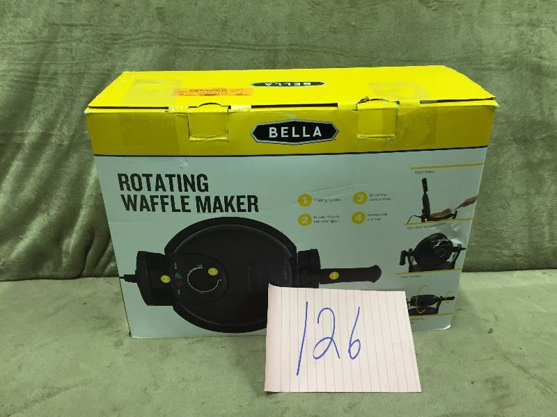bella rotating waffle maker instructions