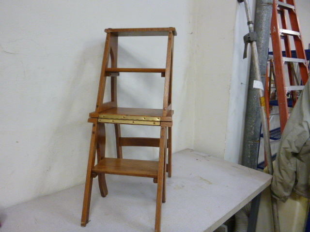 Nice Wooden Chair That Converts To A Step Stool