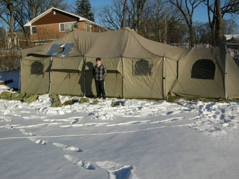 Cabela Alaknak Wall Tent Great Ice Fishing Real