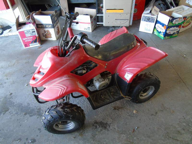 mini four wheeler half a home 59 big lake consignment auction k bid. Black Bedroom Furniture Sets. Home Design Ideas