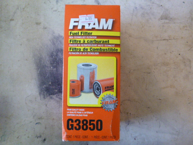 Fram Fuel Filter Northstar Kimball January Consignments