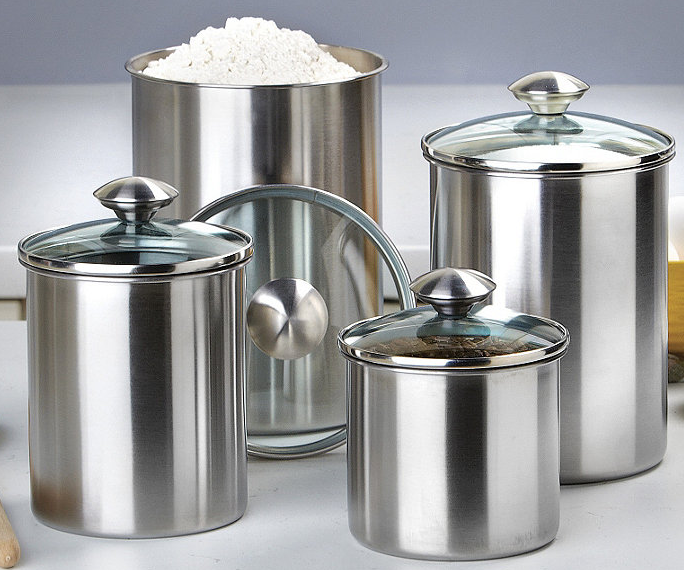 kitchen canister sets stainless steel half a home 66 cookware and kitchen auction k bid 24618