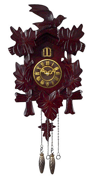 Pendulum cuckoo wall clock cherry half a home 69 brown box auction k bid - Cuckoo pendulum wall clock ...