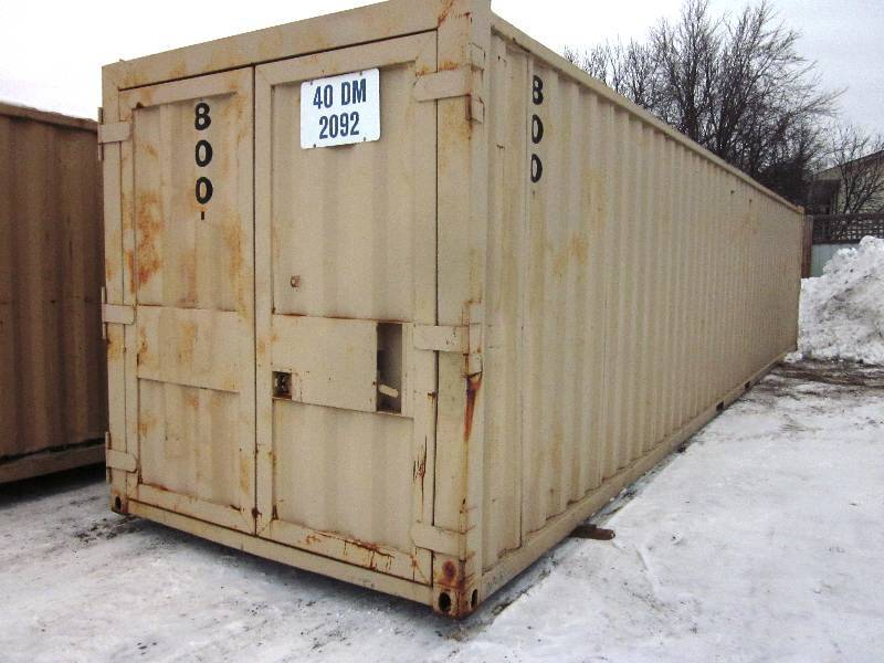 Ten steel storage containers four 40 ft four 22 ft for Shipping containers for sale in minnesota