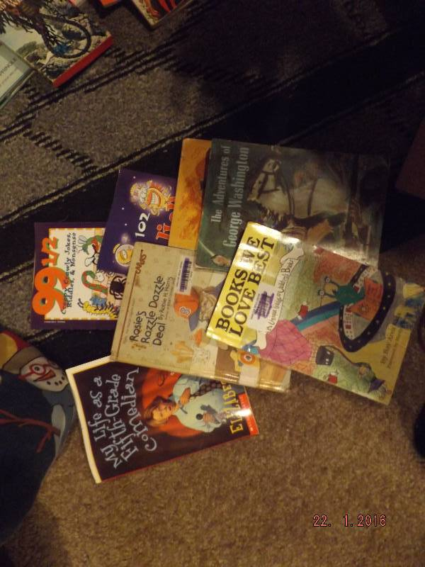 LOT OF 8 CHILDREN'S BOOKS SCHOLASTIC AND OTHERS FUNNY EDUCATIONAL FICTION