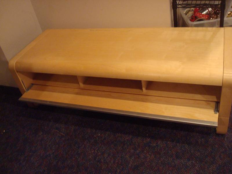 Ikea table with cubbie shelf used 71 lane mid century for Ikea st paul mn