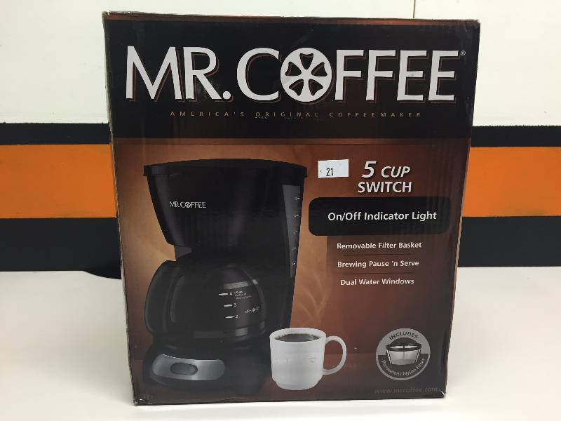 Mr Coffee Maker Wonot Work : MR COFFEE MAKER 5 CUP JANUARY NEW-STORE RETURN MERCHANDISE CONSIGNMENT - REMINDER AT NEW ...
