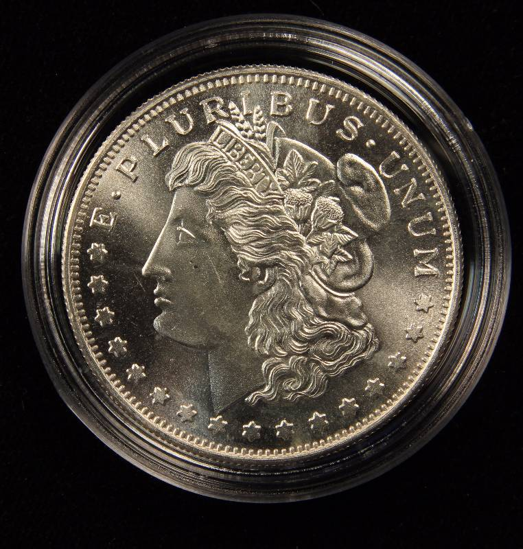 1 Troy Oz 999 Fine Silver Round Morgan Dollar Design In