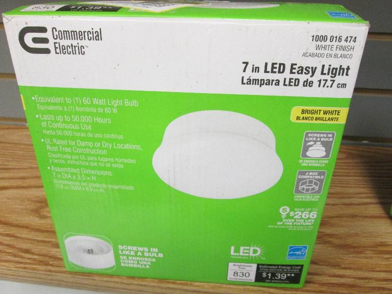 commercial electric model store sku 7 in 4000k white led easy utility light retail u0027