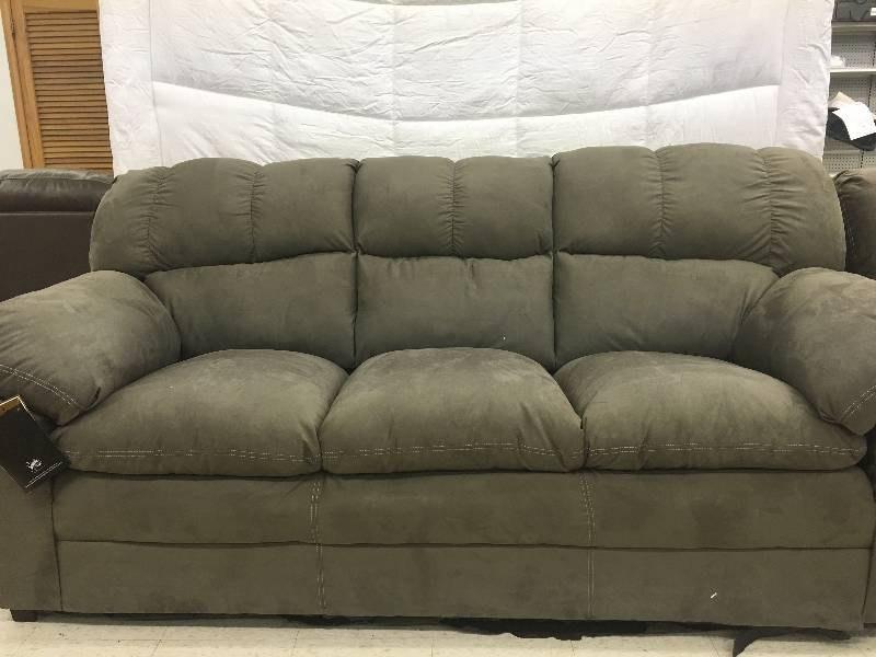 Ashley keanna cobblestone microfiber sofa retail 499 for Liquidation de sofa