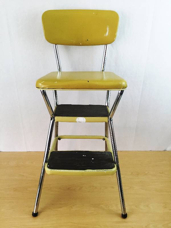 Marvelous Super Retro Cool Vintage Old Cosco Mid Century Modern Yellow Inzonedesignstudio Interior Chair Design Inzonedesignstudiocom
