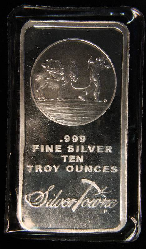 10 Troy Oz 999 Fine Silver Bar Prospector Sealed