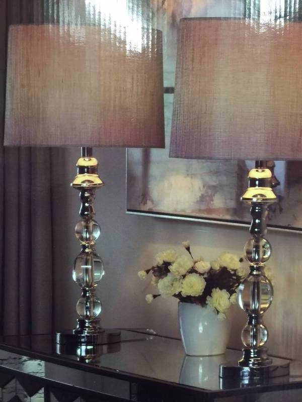 Stylecraft Marmonde Crystal Table Lamps 2 Pack New Kx