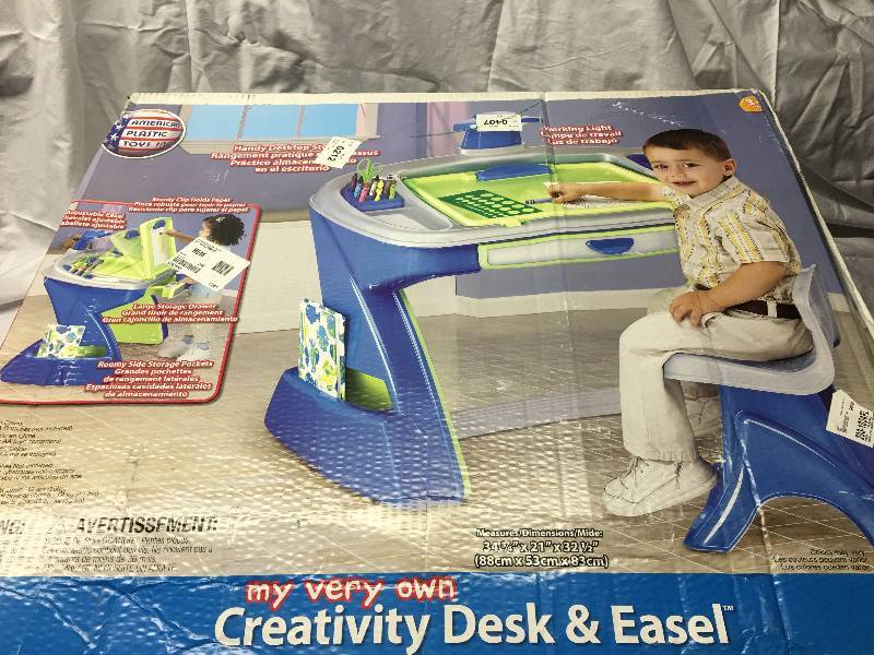 American Plastic Toys Creativity Desk Amp Easel With Chair