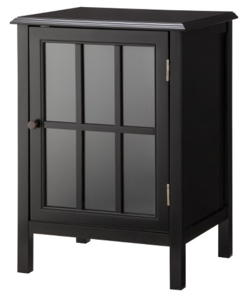 Windham One Door Storage Cabinet - Black | Half a Home 87 - NEW / open ...