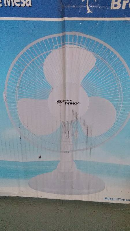 Hawaiian Breeze 12 Inch Table Fan