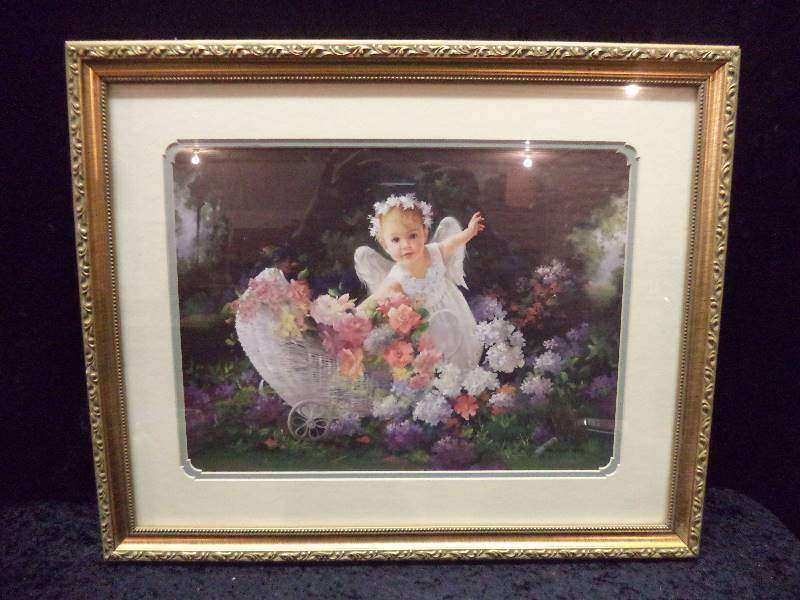 Home U0026 Garden Party   Angel In Garden | Great Selection Of Framed Art |  K BID