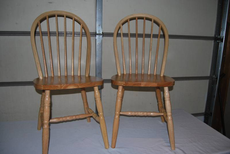 Incroyable Pair Of Winsome Wood Windsor Chairs, Solid Beech Wood, Double Rung  Stretchers, Natural Finish, 17 Inch High Seat, 37u0027u0027 High Back, Inspected,  New.