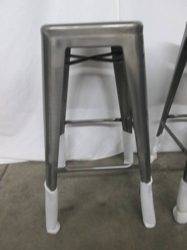 Silver Metal Bar Stool Set Of 2 February Store Returns