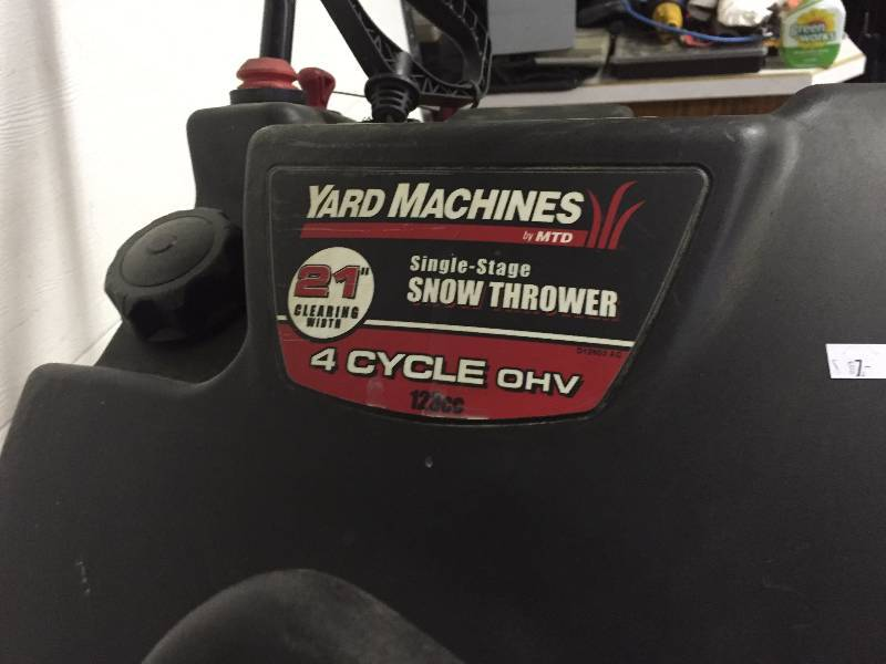 21 yard machine snow thrower
